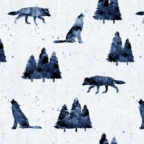 wolves on indigo
