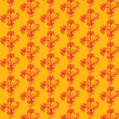 Carmine Bouquet Saffron Yellow Red