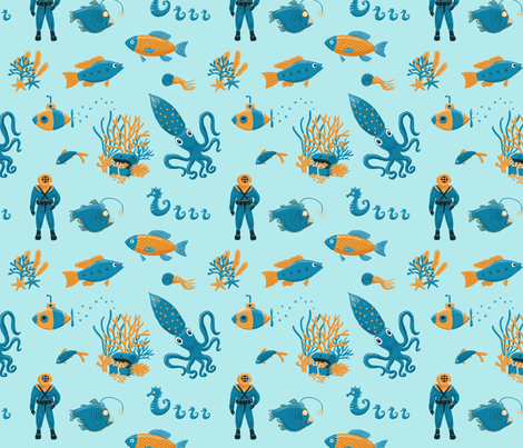 Deep Sea Diver fabric by bexmorley on Spoonflower - custom fabric