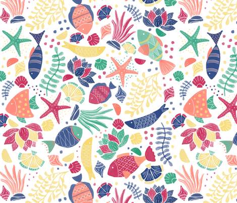 Fish fabric by stephaniethornedesign on Spoonflower - custom fabric