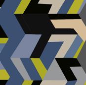Geometric fantasy blue
