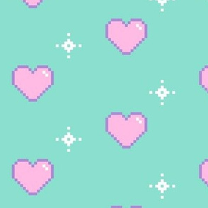 Pixel Hearts and Stars