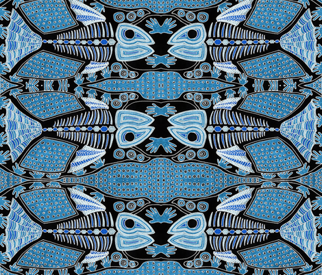 Blue Fish fabric by robyns_design on Spoonflower - custom fabric