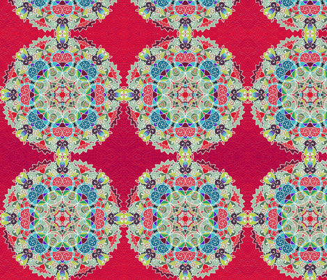 Mandala Magic 2 fabric by floramoon_designs on Spoonflower - custom fabric