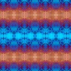 Rainbow geometric pattern - geodesic shapes