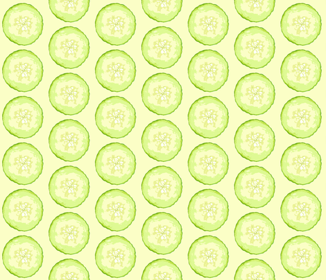 Cucumber on Green fabric by heretherebemonsters on Spoonflower - custom fabric