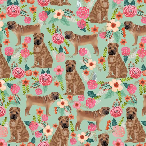 Rsharpei_florals_mint_shop_preview