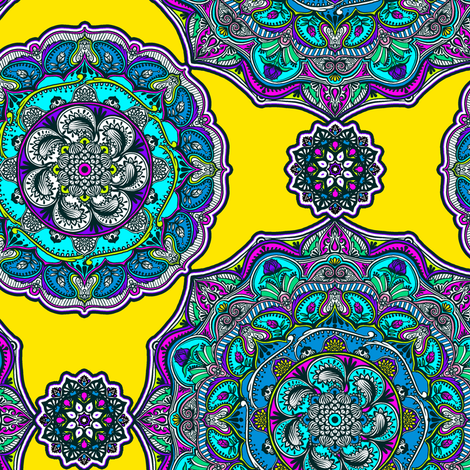 Bright Medallion fabric by jadegordon on Spoonflower - custom fabric