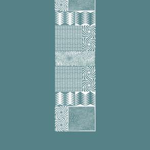 Table Cloth Petrol Geometric 3 YARDS