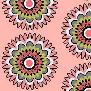 lime peach daisy