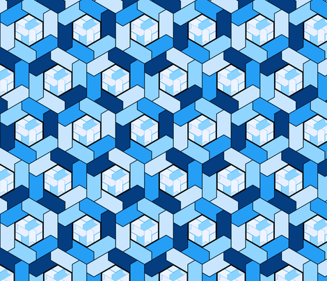 hexagons2 fabric by hannafate on Spoonflower - custom fabric