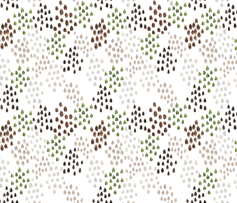 earthy watercolor pebbles fabric by ivieclothco on Spoonflower - custom fabric