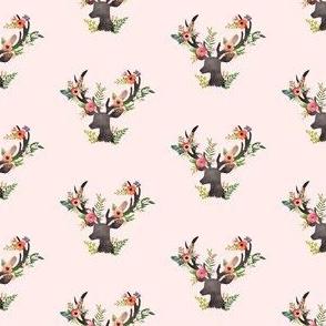 """2"""" Floral Rustic Deer - Floral Dreams"""