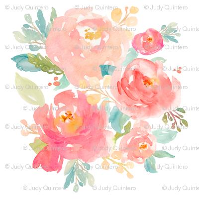 "2"" Floral Sweet Pastel - White"
