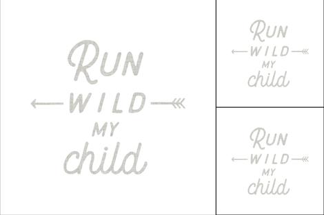 1 blanket + 2 loveys: run wild my child fabric by ivieclothco on Spoonflower - custom fabric