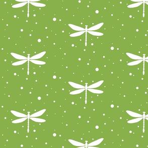 Dragonflies on Greenery Pantone