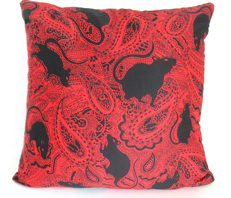 Paisley-Power-MEDIUM-red-ground-black-rat-print