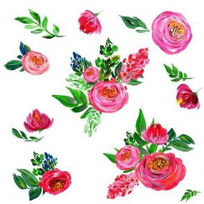 """9"""" Pink Summer / White"""