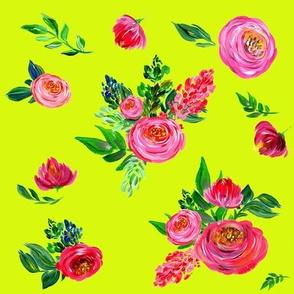 Pink Summer / Bright Yellow Green