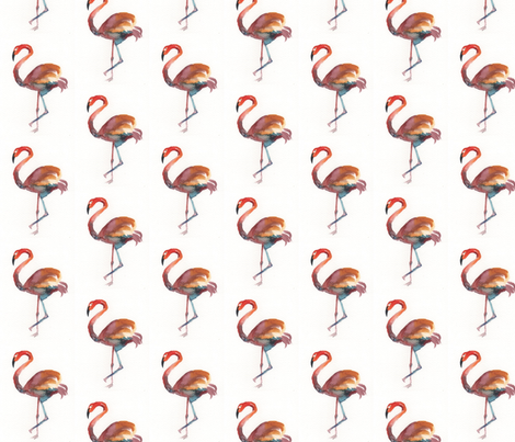 Flamingo fabric by house_of_flo on Spoonflower - custom fabric