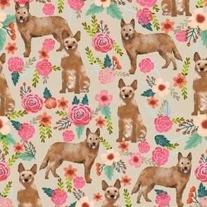 australian cattle dog florals sand red heeler