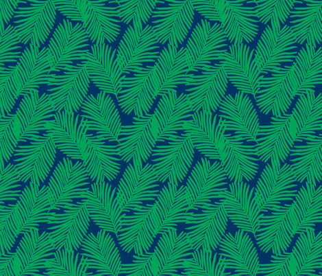 palms green and navy palm print fabric by charlottewinter on Spoonflower - custom fabric