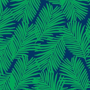 palms green and navy palm print