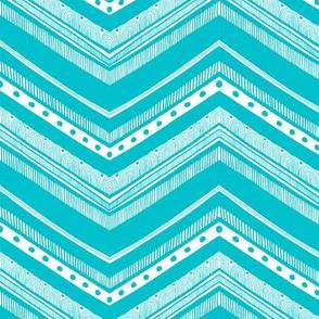 Doodle Chevron - Turquoise