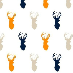 (small scale) multi buck    navy tan orange