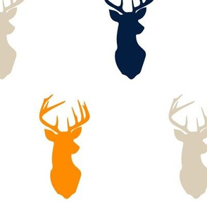 multi buck || navy tan orange