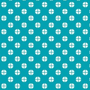 Sewing Swatches Dots - Turquoise