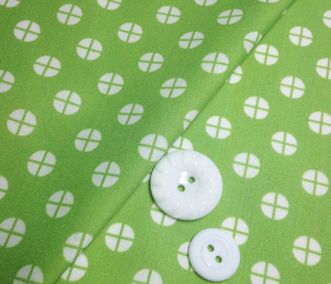 Sewing Swatches Dots - Green