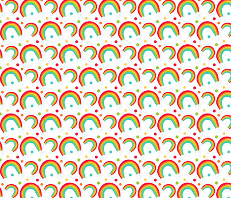 So Lucky Rainbows fabric by jessicaweible on Spoonflower - custom fabric