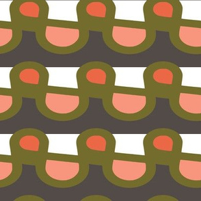 Modern Tartan plaid pattern in  art deco shapes