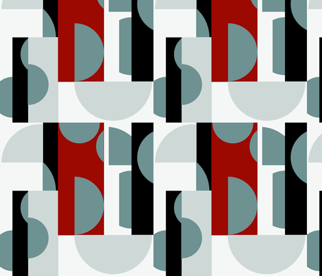 NewDay-Brick fabric by happyhappymeowmeow on Spoonflower - custom fabric