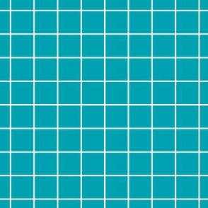 Sewing Swatches Grid - Turquoise