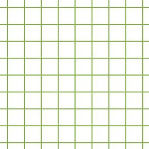 Sewing Swatches Grid - Green on White