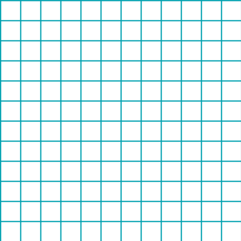 Sewing Swatches Grid - Turquoise on White fabric by siya on Spoonflower - custom fabric