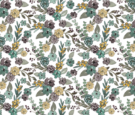 Spring Floral fabric by bluebirdcoop on Spoonflower - custom fabric