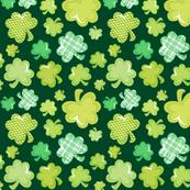Tossed Patterned Shamrocks Green