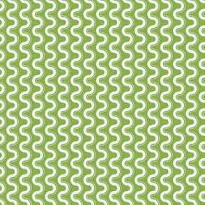 Groovy Wave - Sewing Swatches Green