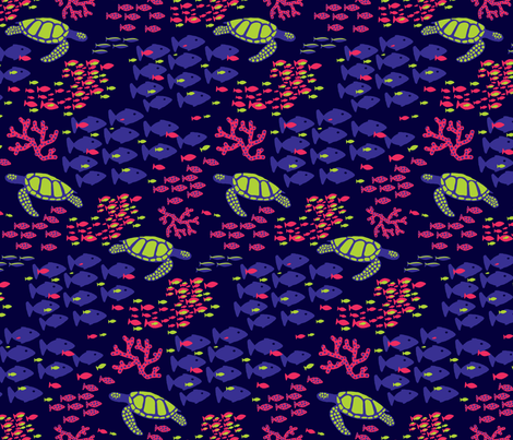 Electric Swimmers fabric by emily_doliner on Spoonflower - custom fabric