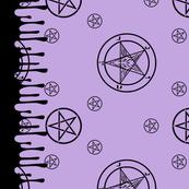 Satanic Baphomet Border Print [Lilac]