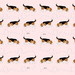 Official Sleepytown Beagles Design  Pink