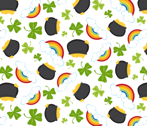 Lucky End of the Rainbow fabric by jessicaweible on Spoonflower - custom fabric