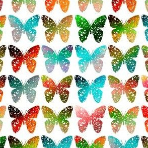 Bright + colorful butterflies of the rainforest by Su_G
