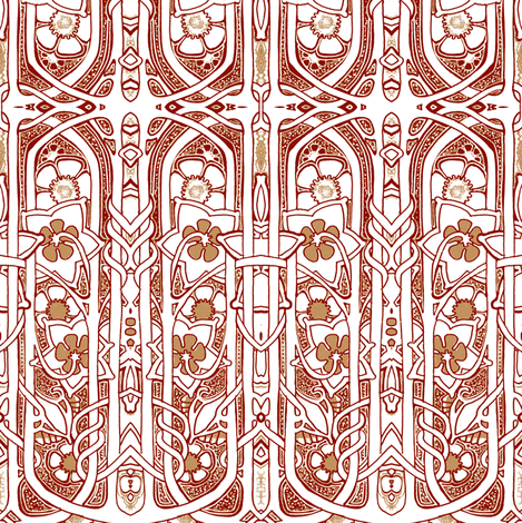 Celtic, Not In My Backyard fabric by edsel2084 on Spoonflower - custom fabric