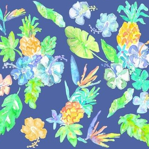 hawaiian print midnight