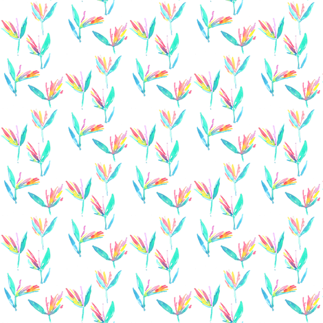birds of paradise mini fabric by erinanne on Spoonflower - custom fabric