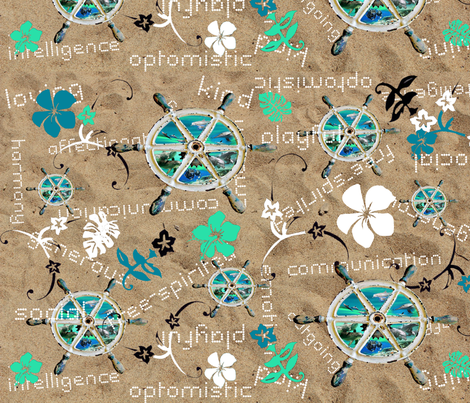 aqua_totem fabric by colormixer on Spoonflower - custom fabric